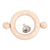 Bonton Baby Wooden Ring Rattle White Stars