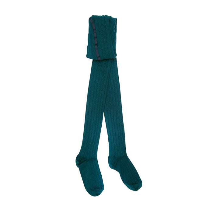Bonton Child Tights Teal Blue