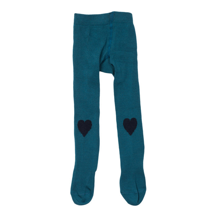 Bonton Baby Tights With Hearts Paon Blue