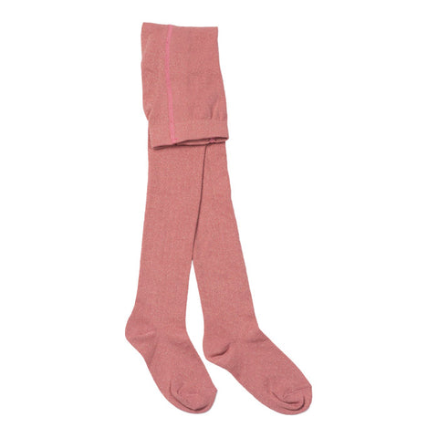 Bonton Child Lurex Tights Blush Pink