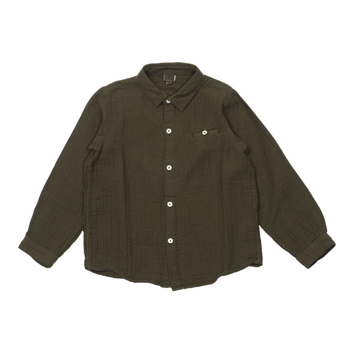 Bonton Child Georges Shirt Beetle Green