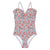 Bonton Child Bahamas Swimsuit Dark Pink Floral Print