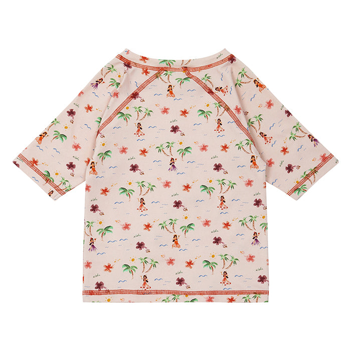 Bonton Child Boat Swim Top Pink Tahiti Print