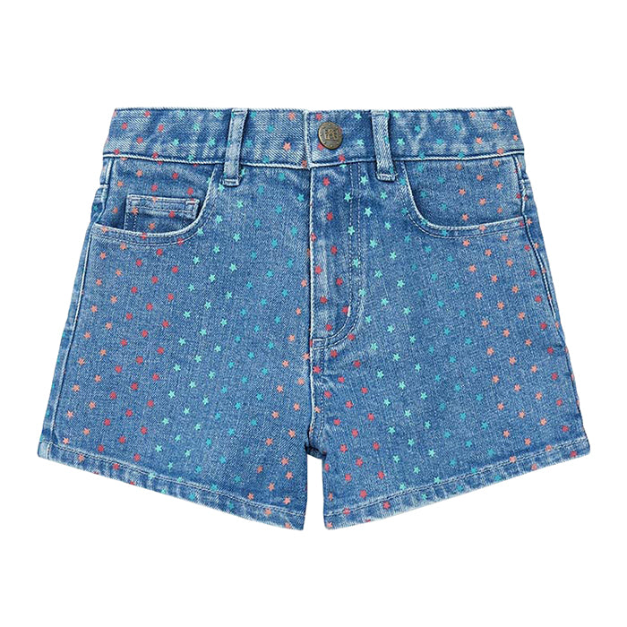 Bonton Child Neon Shorts Star Dot Print