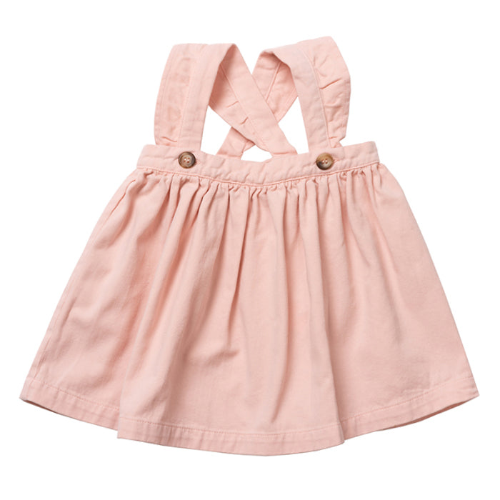 Bonton Baby Biche Pinafore Dress Velvet Pink