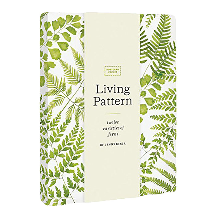 Set Of 24 Living Pattern Postcards Fern