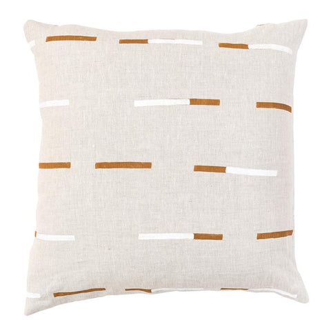 Caroline Z Hurley Pillow Overlapping Dashes Natural