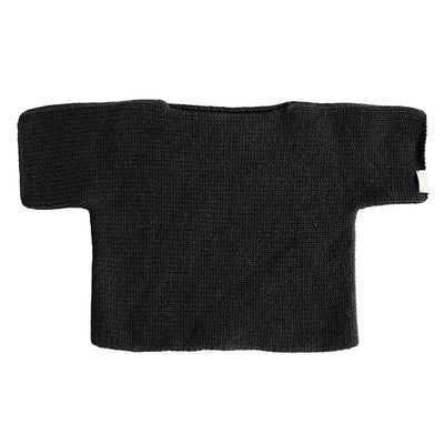 Cataleya Baby Short Sleeved Cashmere Sweater Black