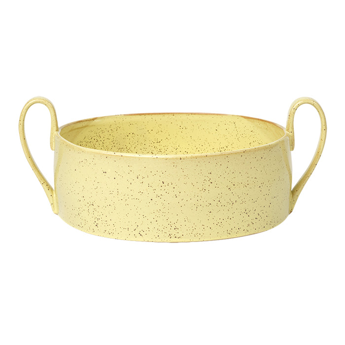 Ferm Living Flow Centerpiece Yellow Speckle