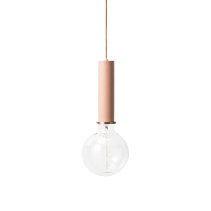 Ferm Living Socket Pendant Light High Rose Pink