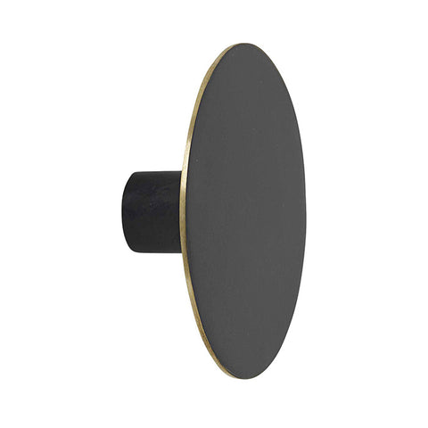 Ferm Living Flat Circle Hook Large Black Brass