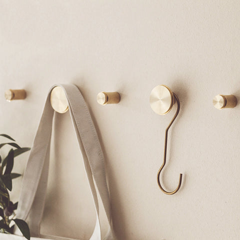 Ferm Living Wall Hook Large Brass