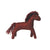 Glückskäfer Felt Horse Red Brown Large