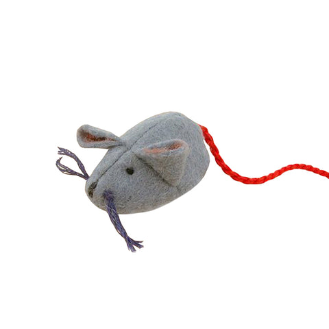 Glueckskaefer Felt Grey Mouse