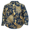 Hopper Hunter by 18 Waits Baby And Child The Hopper Long Sleeved Shirt Navy Blue With Gold Peacocks