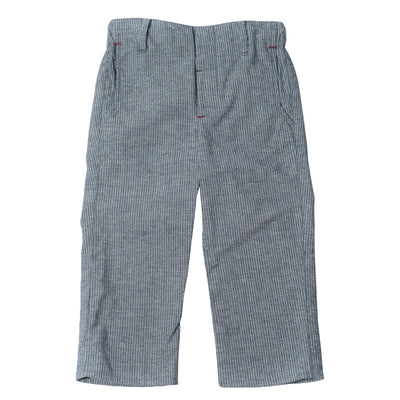 Hopper Hunter by 18 Waits Baby And Child The Slim Pants Chambray Blue Pinstripes