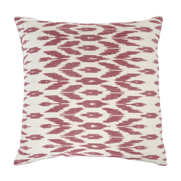 Ikat Rose Pillow
