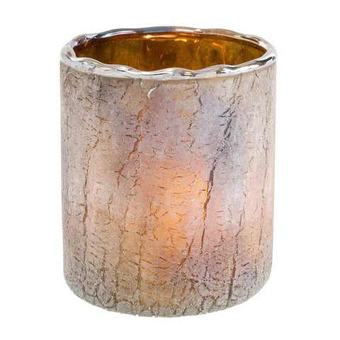 Saturna Candle Holder Smoke Grey Ombre