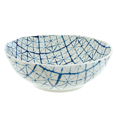 Shibori Bowl Light Blue Large