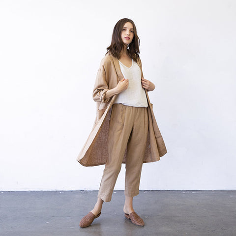 It Is Well LA Woman Duster Almond Brown