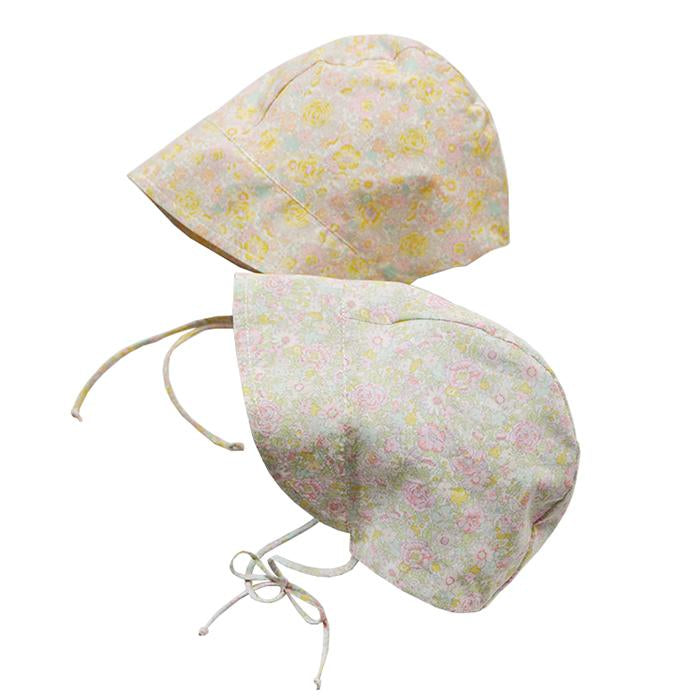 Makie Baby Trish Bonnet Yellow Floral Print