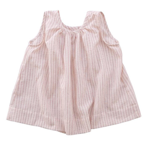 Makie Baby And Child Skylar Sleeveless Top Red Pinstripes