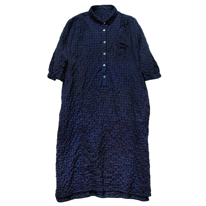 Makie Woman Gina Dress Indigo Blue Check