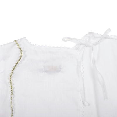 Makie Baby Wrap Blouse In Swiss Cotton White