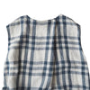 Makie Woman Claudia Sleeveless Dress Off-White And Blue Plaid