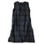 Makie Woman Claudia Sleeveless Dress Dark Navy Blue Plaid