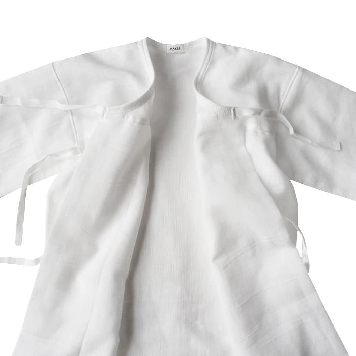 Makie Baby Gauze Yukata Gown White