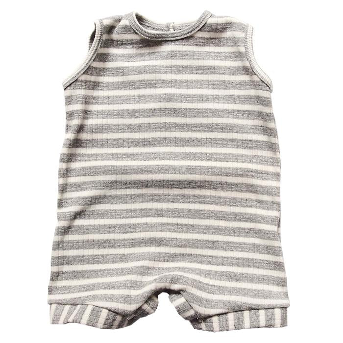 Makie Baby Romper Carson Grey Stripes