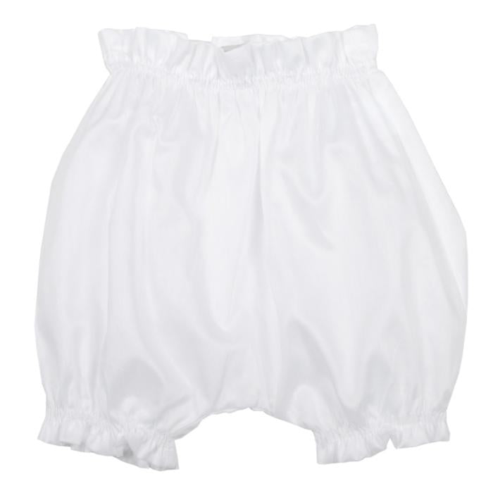 Makie Baby Bloomers In Swiss Cotton White