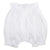 White cotton bloomers with an elasticized waist and leg openings.