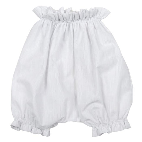 Makie Baby Remi Bloomers White With Grey Pinstripes