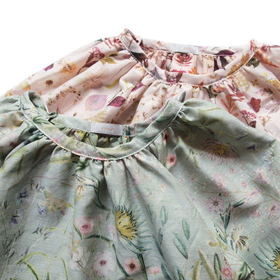 Makie Baby Jasmine Gathered Shirt Peach Pink