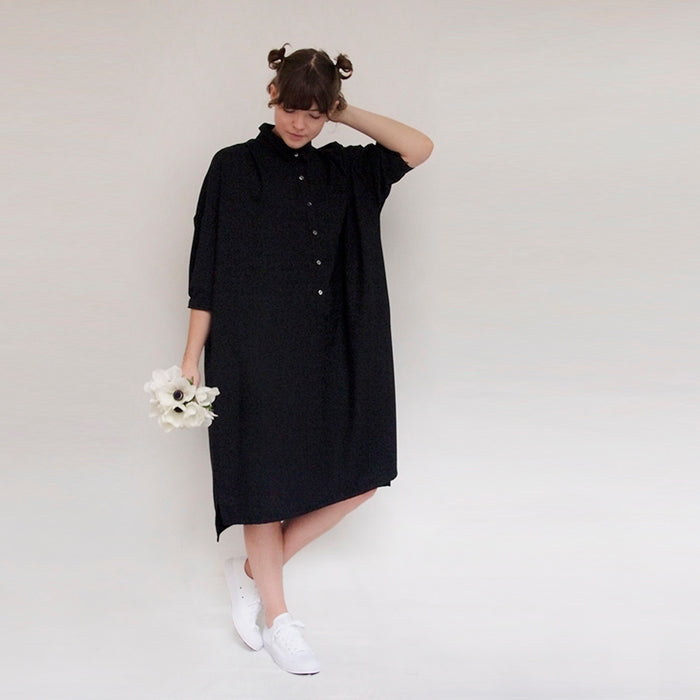 Makie Woman Gia Wool Dress Black