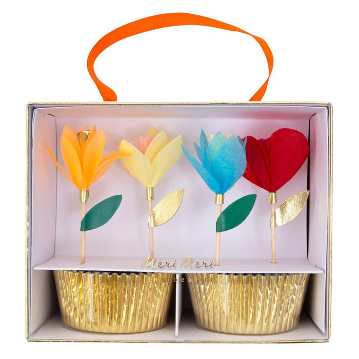 Meri Meri Flower Cupcake Kit Multicolour