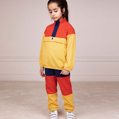 Mini Rodini Baby And Child Fleece Pullover Jacket Yellow