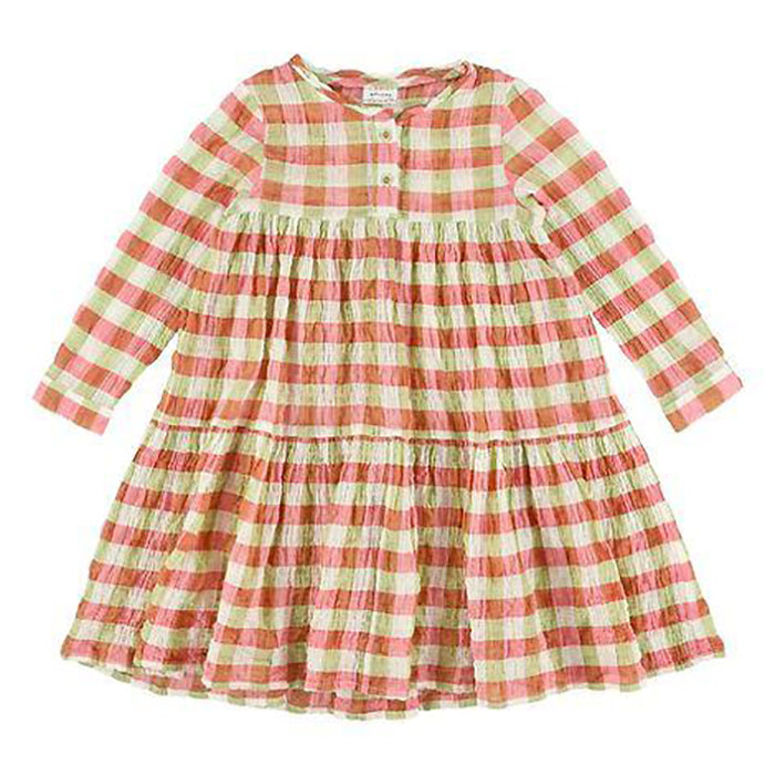 Morley Child Hippie Dress May Check Print