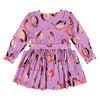 Morley Child May Dress Big Posey Azalea Purple