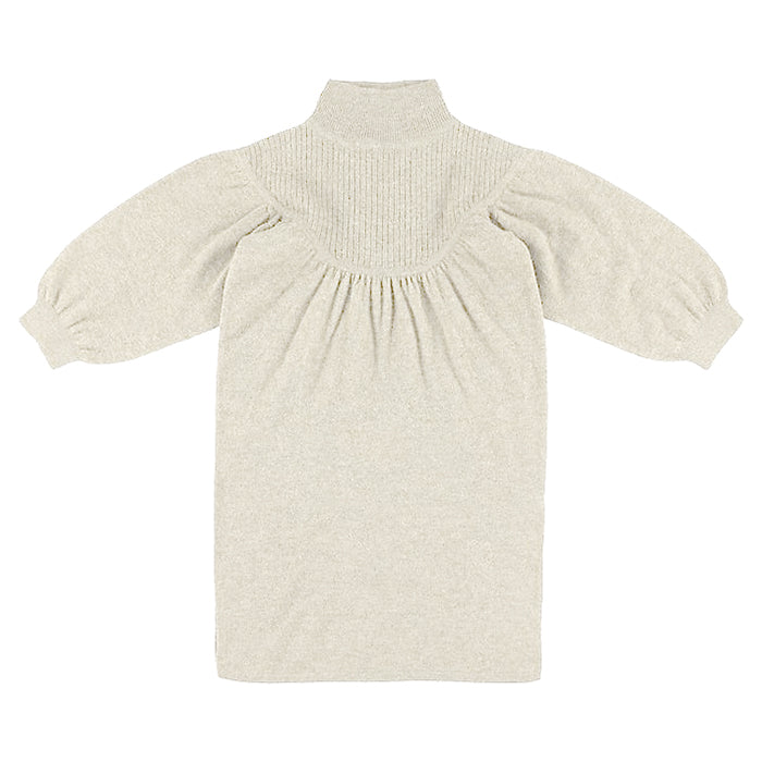 Morley Child Monkey Sweater Dress Noble Mist White
