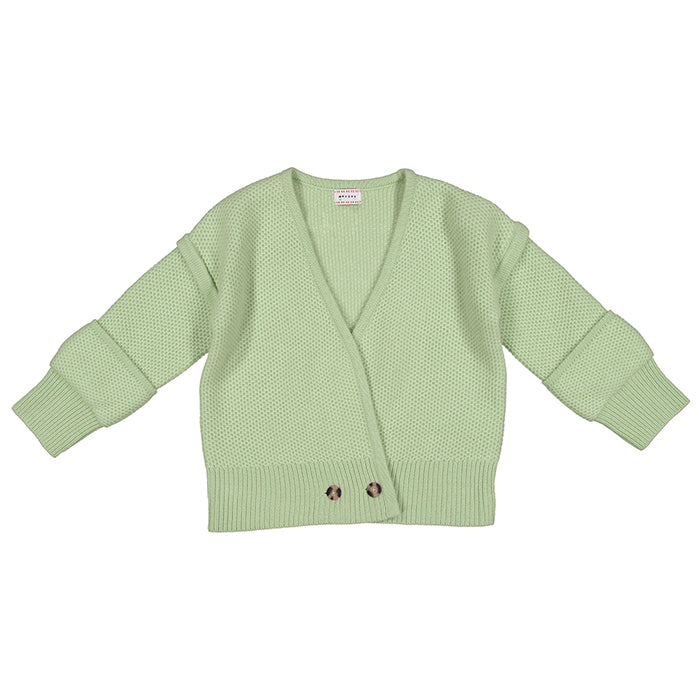 Morley Child Mono Fuzzy Sweater Loden Green