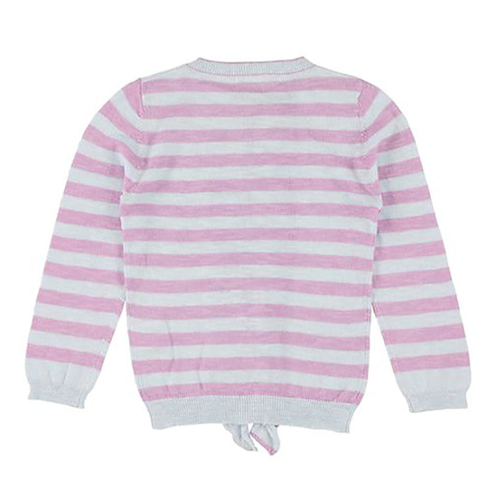 Morley Child Nacho Cardigan Cricket Sky Blue And Purple Stripes