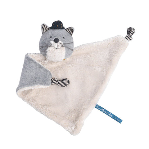Moulin Roty Les Moustaches Fernand The Cat Cuddle Toy Light Grey