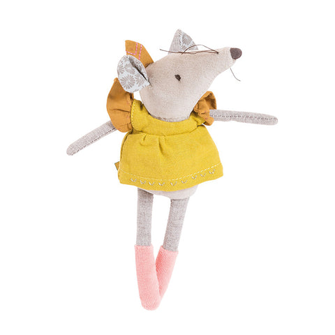 Moulin Roty Le Voyage D'Olga Lisette The Mouse Soft Toy Yellow