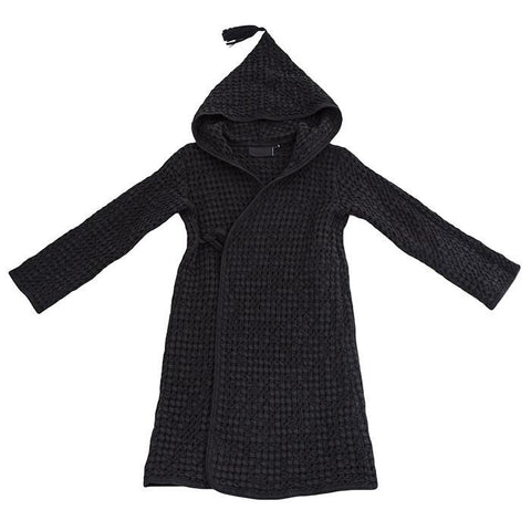 Moumout Paris Baby And Child Pepin Bee Honeycomb Bathrobe Ink Black