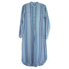 Mercy for Advice From A Caterpillar Woman Striped Linen Dress Blue