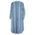 Mercy for Advice From A Caterpillar Striped Linen Dress Blue
