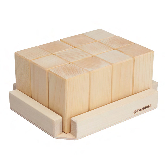Ocamora Wooden Rectangular Prisims Natural